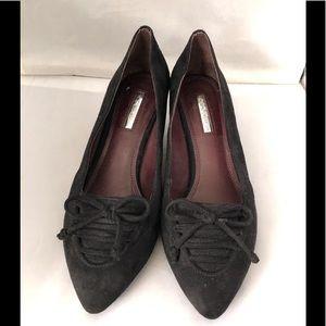 BCBG suede point toe wedge heels 8